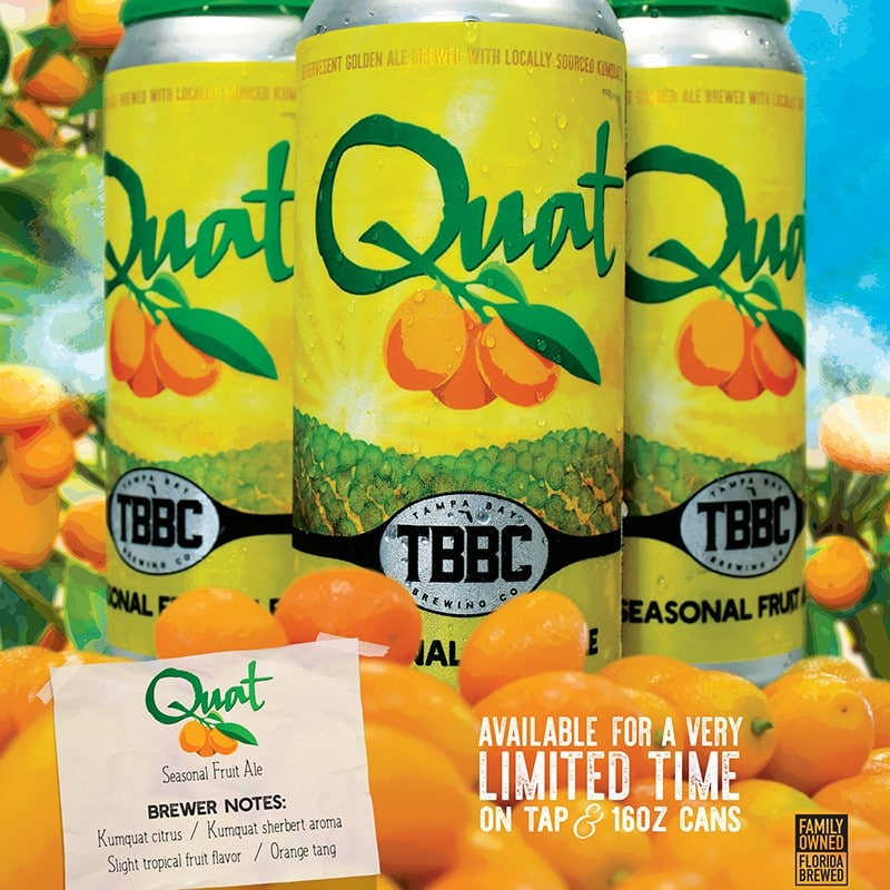 Quat Seasonal Fruit Beer | Tampa Bay Brewing Company