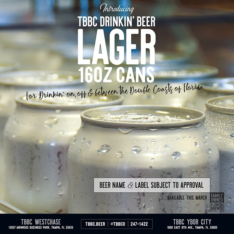 Drinking Beer Lager | Tampa Bay Brewing Company