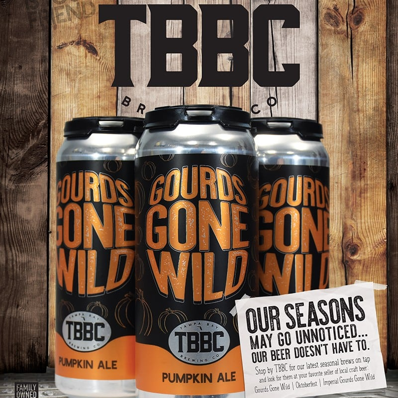 TBBC Gourds Gone Wild Craft Beer | Tampa Bay Brewing Company